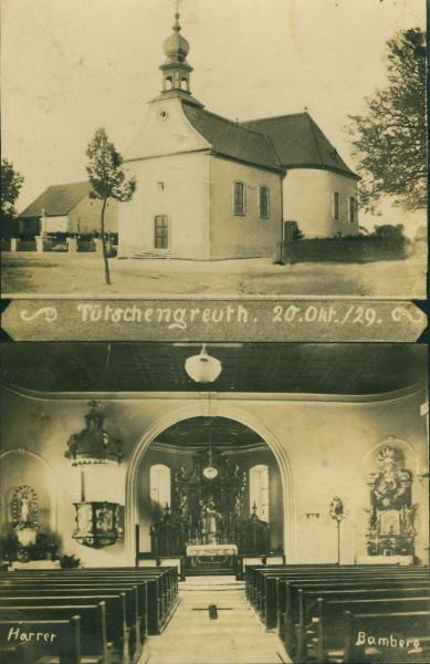 Postkarte Kirchenerweiterung 1928