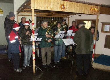 Nikolausfeier 2009 mit der Tütschengereuther Dorfmusik