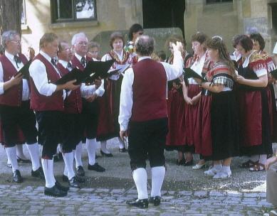 Tütschengereuther Sänger auf der Altenbrug